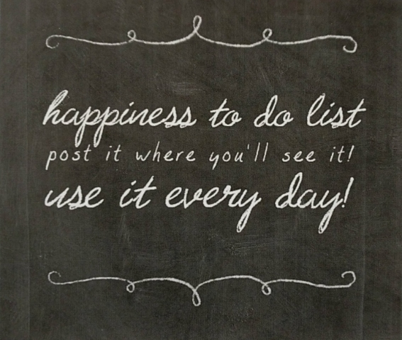 Happiness To Do List